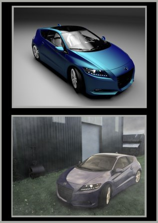 STUDIO SHOT HONDA CRZ & EXTERNAL SHOT
